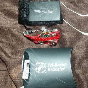 NWT Ashley Bridget Minnesota Wild NHL Bracelet